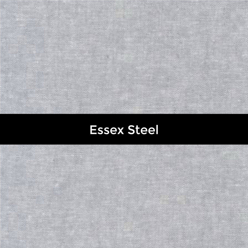Essex Yarn Dyed Linen in Steel - Priced by the Half Yard - brewstitched.com
