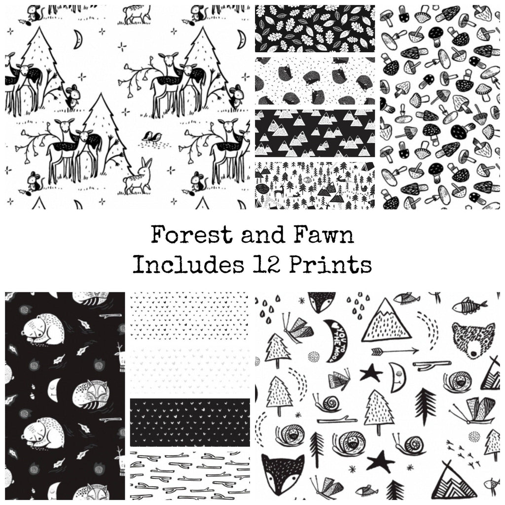 Fawn and Forest Fat Quarter Bundle Includes 12 Prints - brewstitched.com