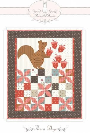Acorn Days Mini Quilt Paper Pattern by Bunny Hill Designs - brewstitched.com
