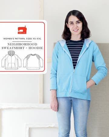 Neighborhood Sweatshirt and Hoodie Paper Pattern from Liesl & Co - brewstitched.com