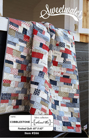 Cobblestone Quilt Paper Pattern from Sweetwater - brewstitched.com