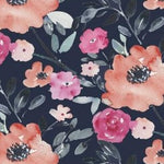 Artistic Garden Midnight Floral - Priced by the Half Yard