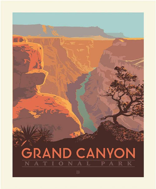 National Parks Poster Fabric Panel Grand Canyon - Priced by the Panel - brewstitched.com