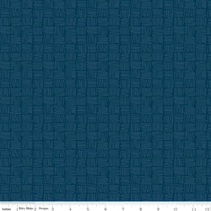 Dream Weaver Weave Navy - Priced by the Half Yard - brewstitched.com
