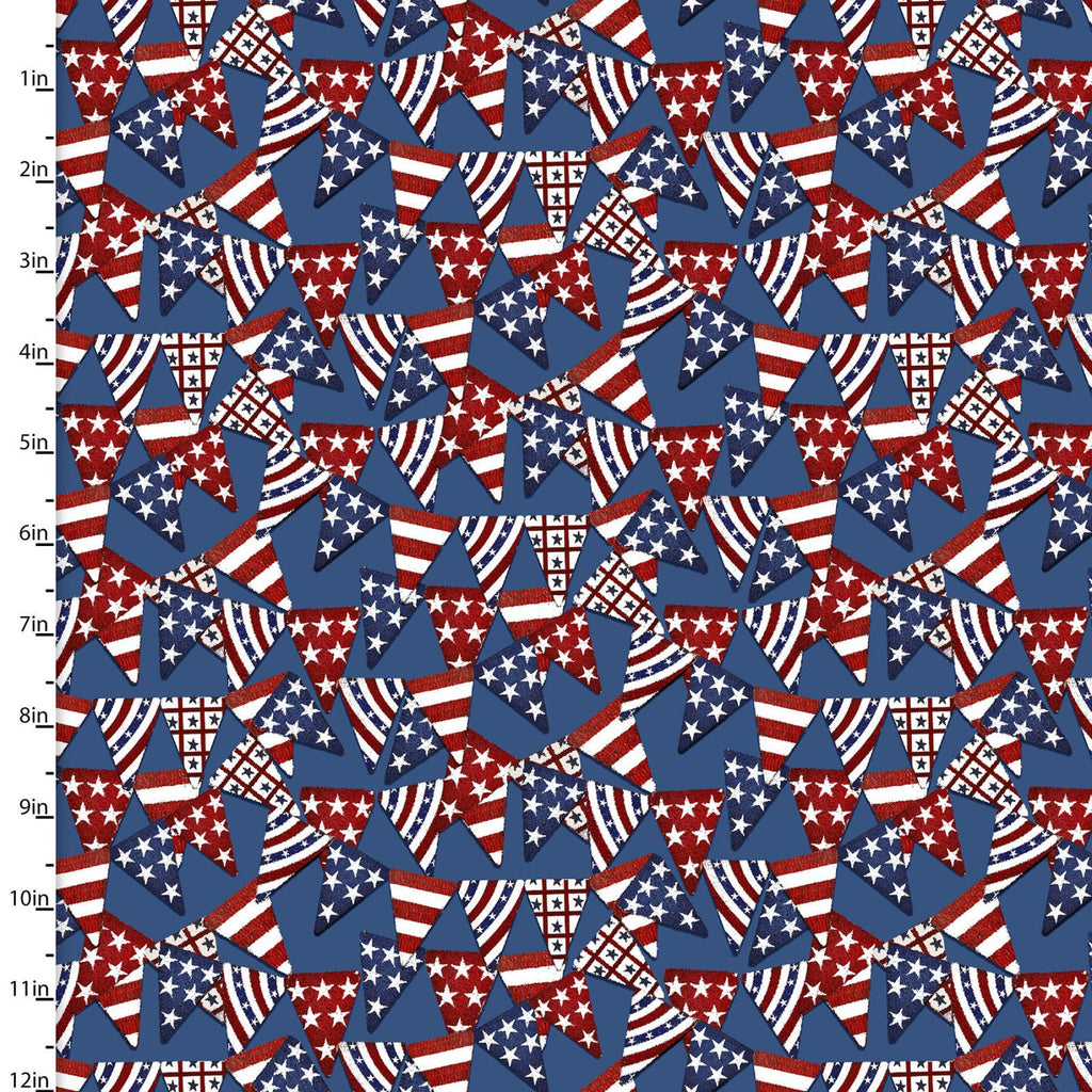 American Spirit Bunting - Priced by the Half Yard - brewstitched.com