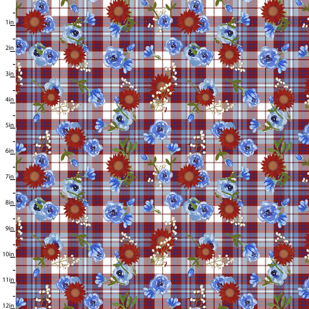 American Spirit Parade Floral Plaid - Priced by the Half Yard - brewstitched.com