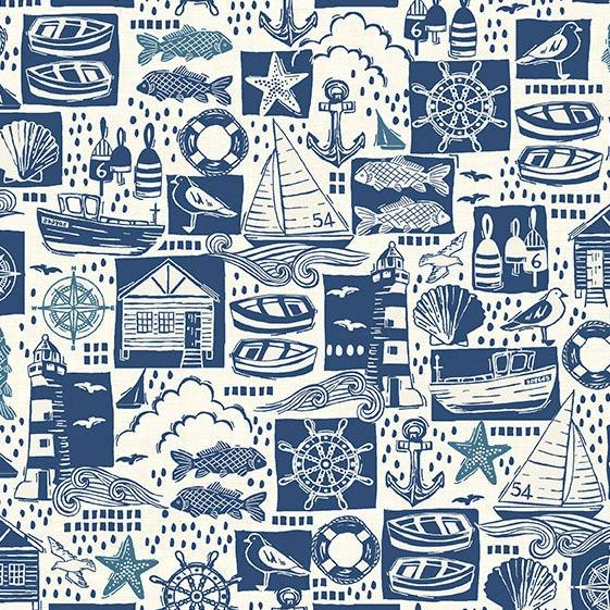 Sail Away Blue Montage - brewstitched.com