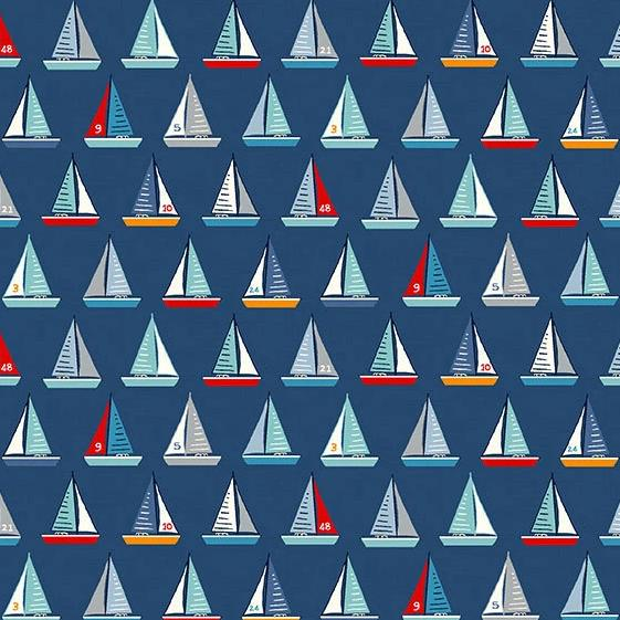 Sail Away Yachts on Blue - brewstitched.com