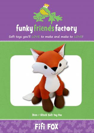 Fifi Fox Paper Pattern from Funky Friends Factory - brewstitched.com