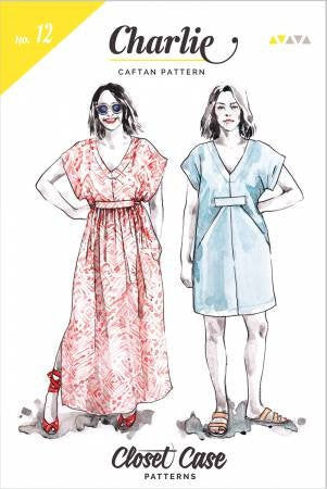 Charlie Caftan Dress Paper Pattern from Closet Case Patterns - Sizes 0 to 20 Adult - brewstitched.com