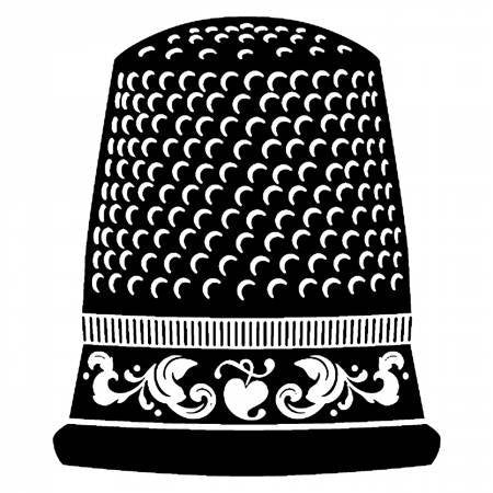 Thimble Vinyl Window Decal - brewstitched.com
