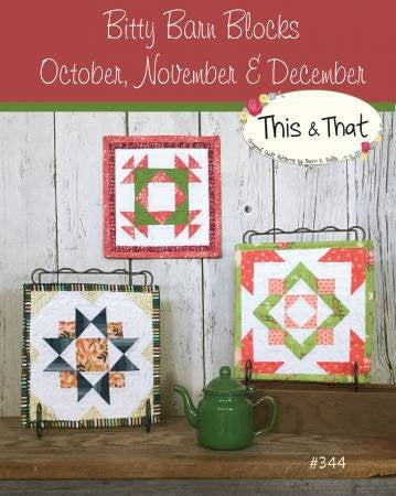Bitty Barn Blocks October to December Mini Quilts Paper Pattern - brewstitched.com