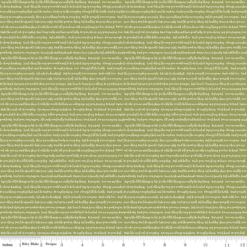 Modern Farmhouse Words Green - Priced by the Half Yard - brewstitched.com