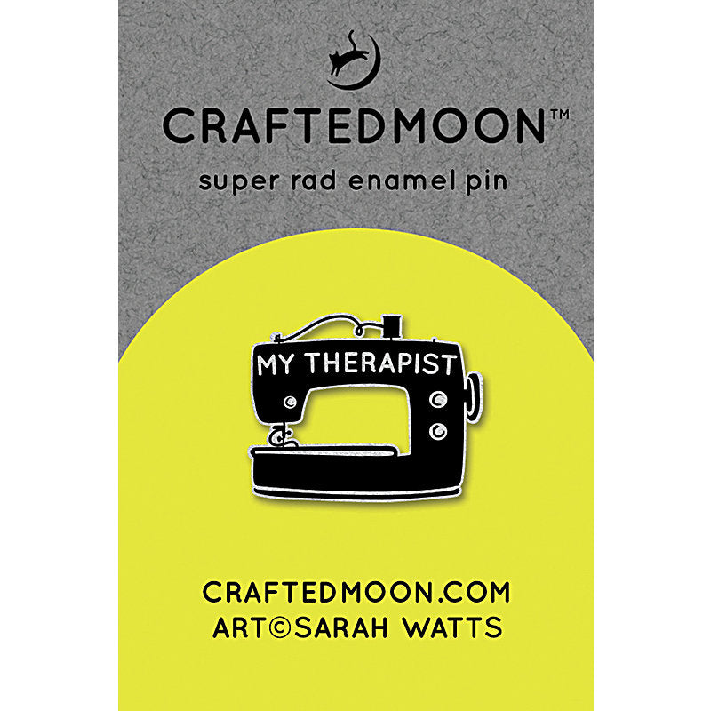 Enamel Pins My Therapist from Craftedmoon - brewstitched.com