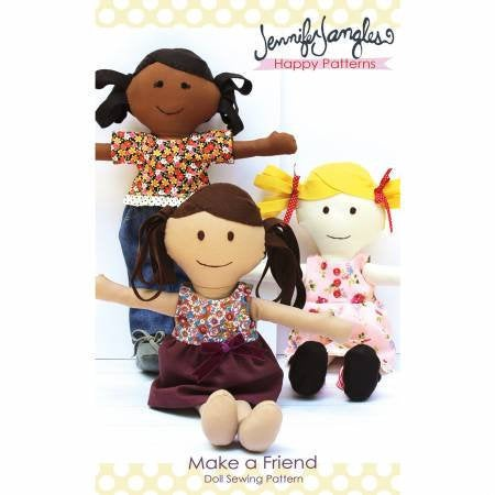 Make A Friend Doll Paper Pattern - brewstitched.com