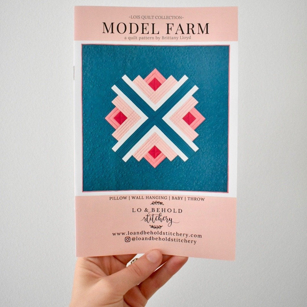 Model Farm Quilt Paper Pattern from Lo & Behold - brewstitched.com