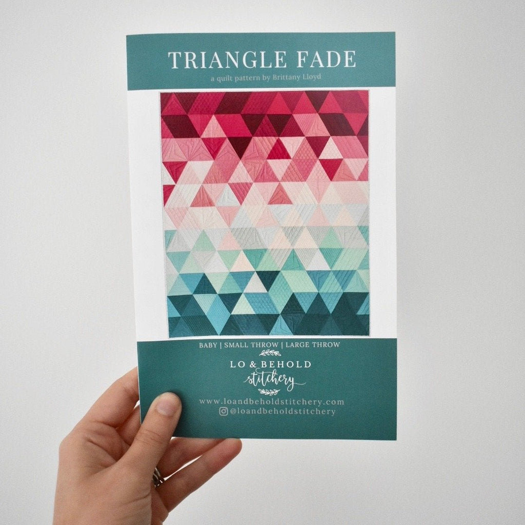 Triangle Fade Quilt Paper Pattern from Lo & Behold - brewstitched.com