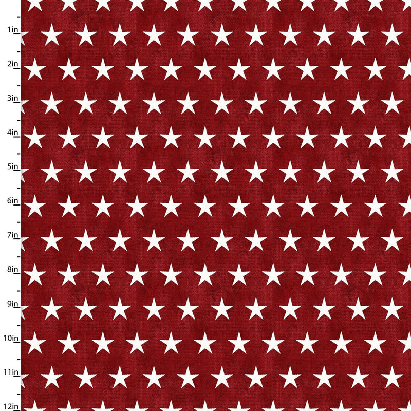 American Spirit Stars on Red - Priced by the Half Yard - brewstitched.com
