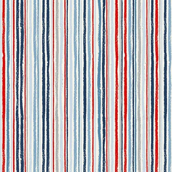 PREORDER - Sail Away Chalk Stripe - Priced by the Half Yard - SHIPS Jan/Feb 2020