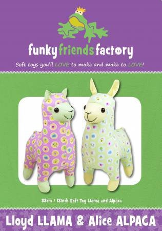 Lloyd Llama and Alice Alpaca Paper Pattern from Funky Friends Factory - brewstitched.com