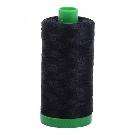 Aurifil Thread 40 wt 1094 yards in Black A1040-2692 - brewstitched.com