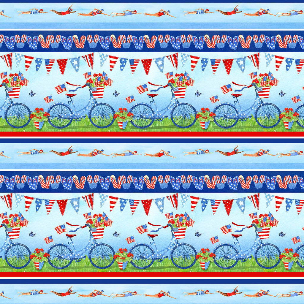 Star Spangled Summer Novelty Strip - brewstitched.com