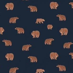 Brave Enough to Dream Bears on Navy - Priced by the Half Yard - brewstitched.com