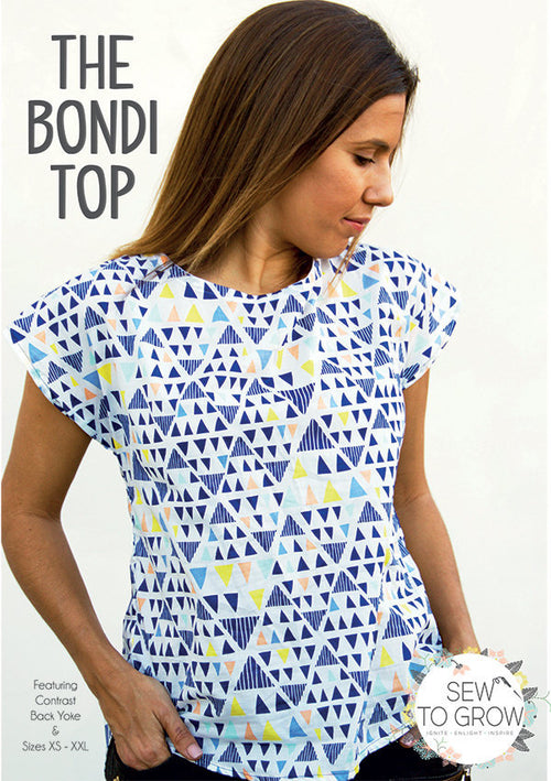 Bondi Top by Sew To Grow Paper Pattern - brewstitched.com