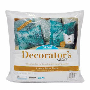 Decorators Choice Luxury Pillow Form 100% Polyester Filled 16in x 16in - brewstitched.com