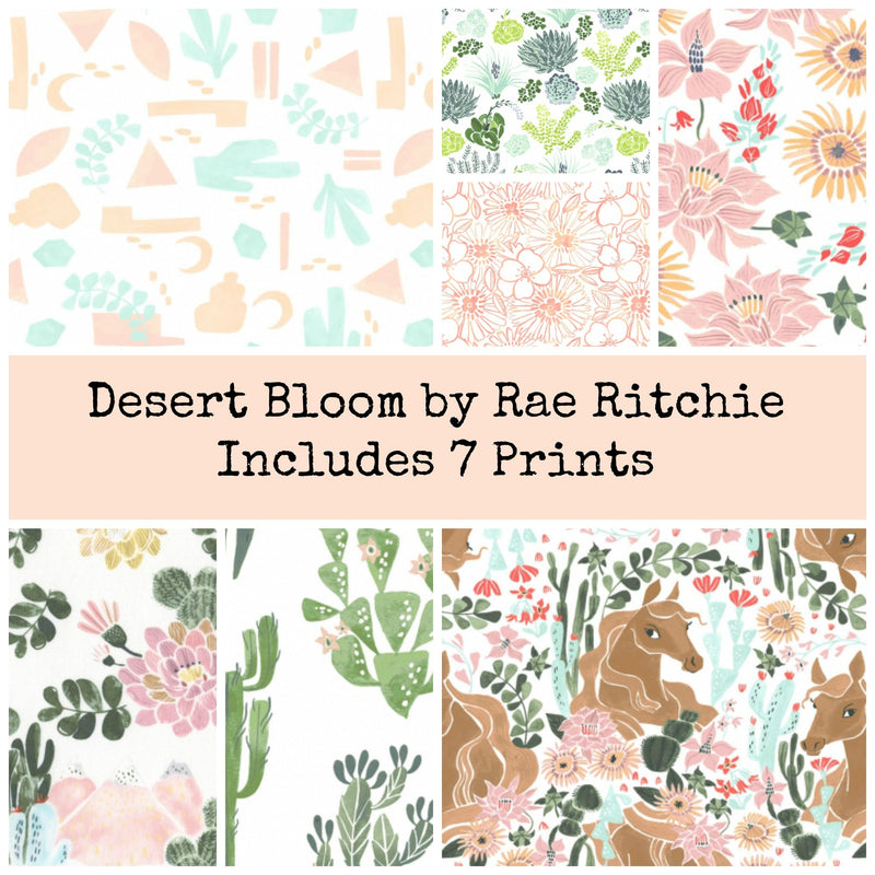 Desert Bloom Fat Eighth Bundle - Includes 7 Prints - brewstitched.com