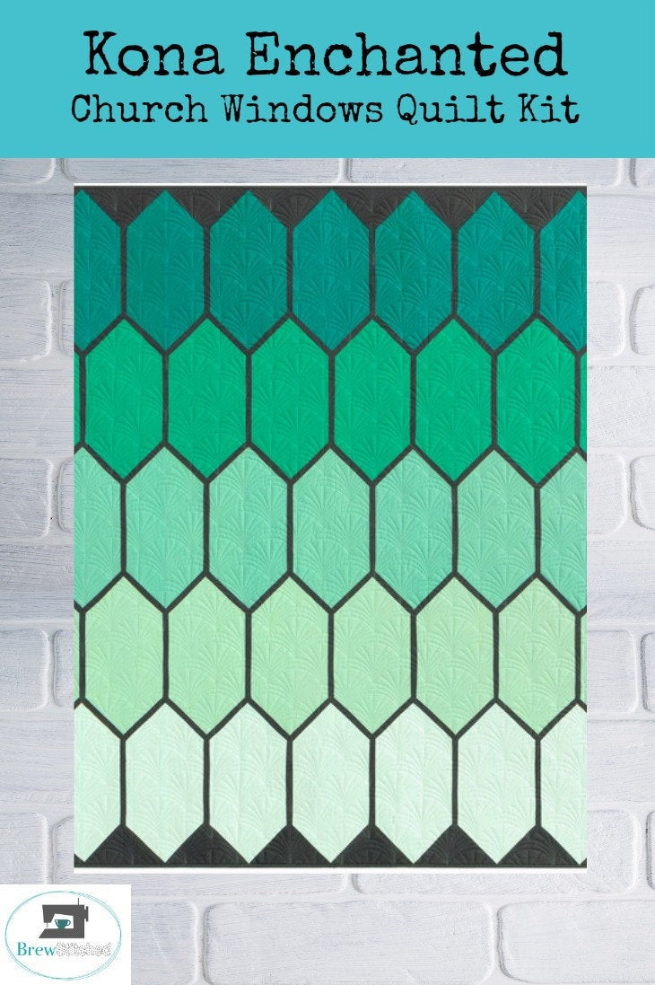 Kona Enchanted Church Windows Quilt Kit - brewstitched.com