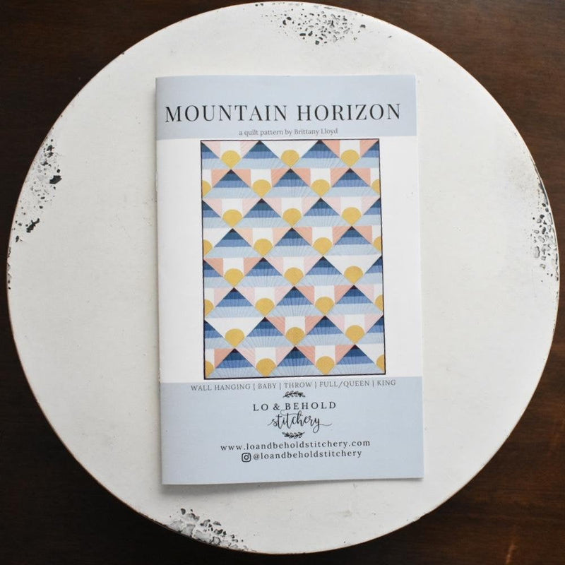 Mountain Horizon Quilt Paper Pattern from Lo & Behold Stitchery - brewstitched.com