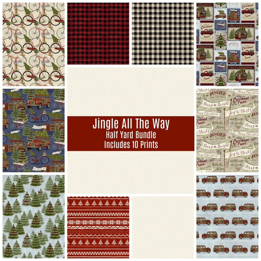 Jingle All The Way Half Yard Bundle - Includes 10 Prints - brewstitched.com