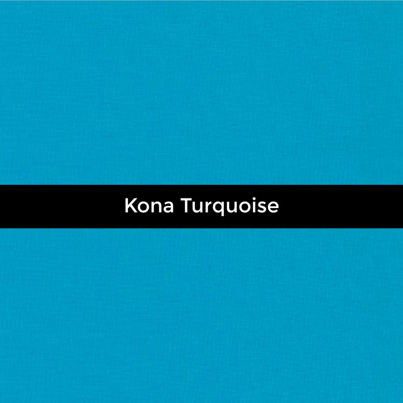 Kona Turquoise - Priced by the Half Yard - brewstitched.com