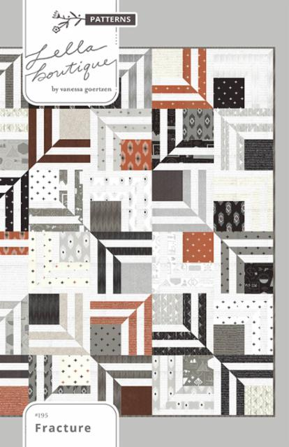 Fracture by Lella Boutique Quilt Paper Pattern featuring Smoke and Rust - brewstitched.com