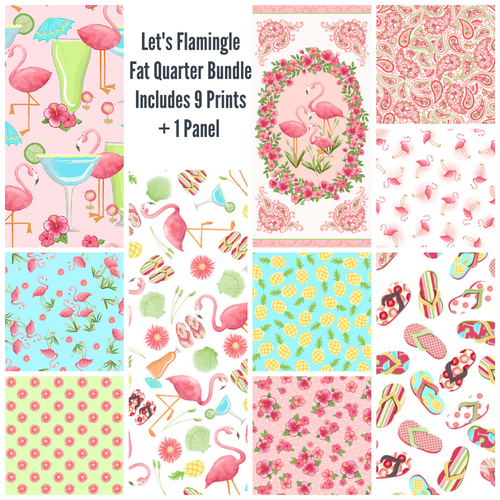 Let's Flamingle Fat Quarter Bundle - brewstitched.com