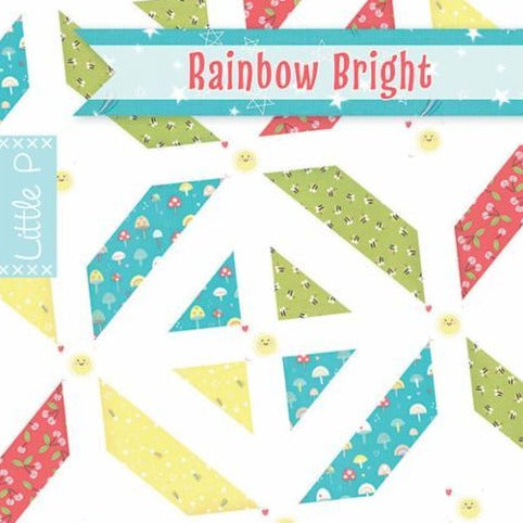 Little P Rainbow Bright Baby Quilt Paper Pattern from It's Sew Emma - brewstitched.com