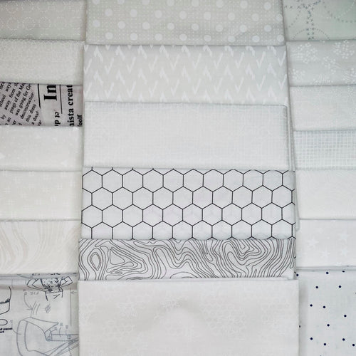 Low Volume Fat Quarter Bundle - Includes 20 Prints - brewstitched.com