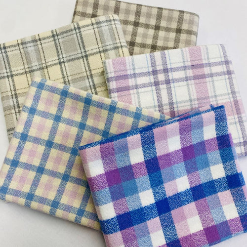 Mammoth Junior Flannel Purple Gray Fat Quarter Bundle - brewstitched.com