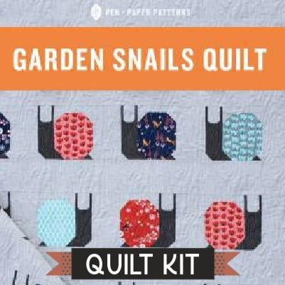 Gnome Sweet Gnome Garden Snails Quilt Kit - brewstitched.com