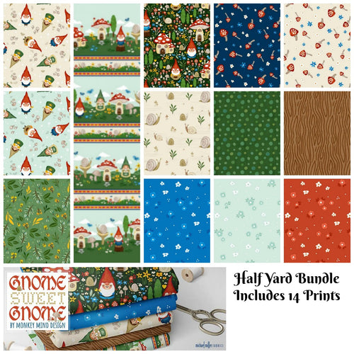Gnome Sweet Gnome Half Yard Bundle - brewstitched.com
