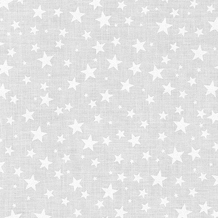 Mini Madness White Stars - Priced by the Half Yard - brewstitched.com