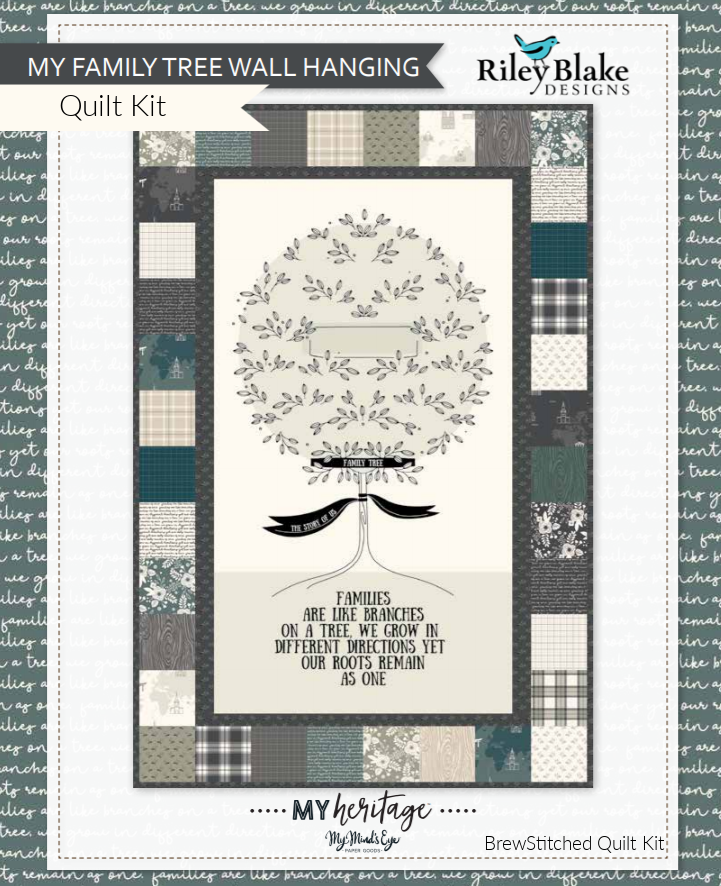 My Heritage Family Tree Wall Quilt Kit - brewstitched.com