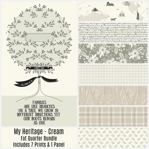 My Heritage Cream Fat Quarter Bundle - brewstitched.com