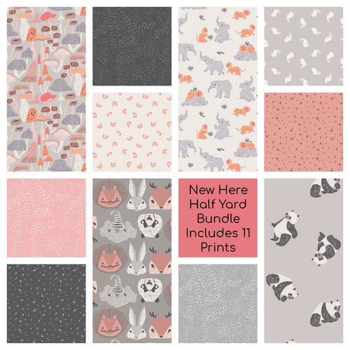 New Here Half Yard Bundle - Expected Feb 2021 - brewstitched.com