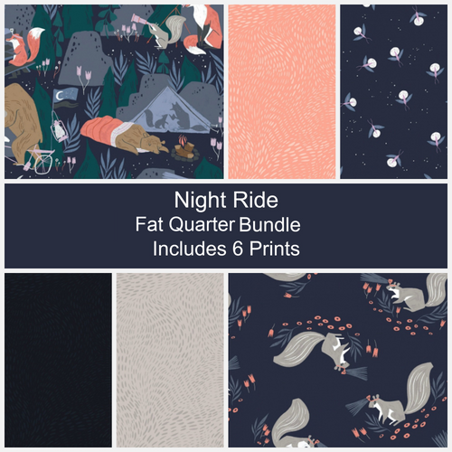 Night Ride Fat Quarter Bundle - Includes 6 Prints - brewstitched.com
