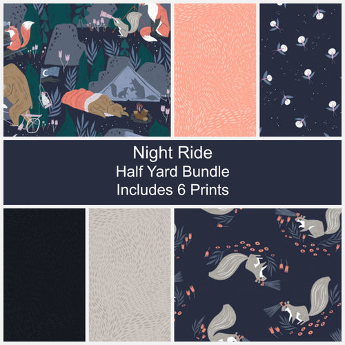 Night Ride Half Yard Bundle - Includes 6 Prints - brewstitched.com