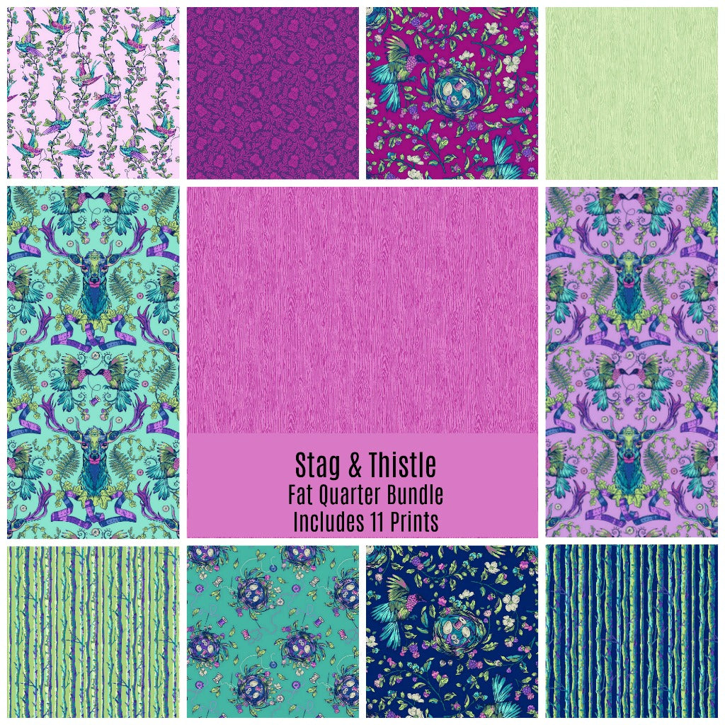 Stag and Thistle Fat Quarter Bundle - Includes 11
