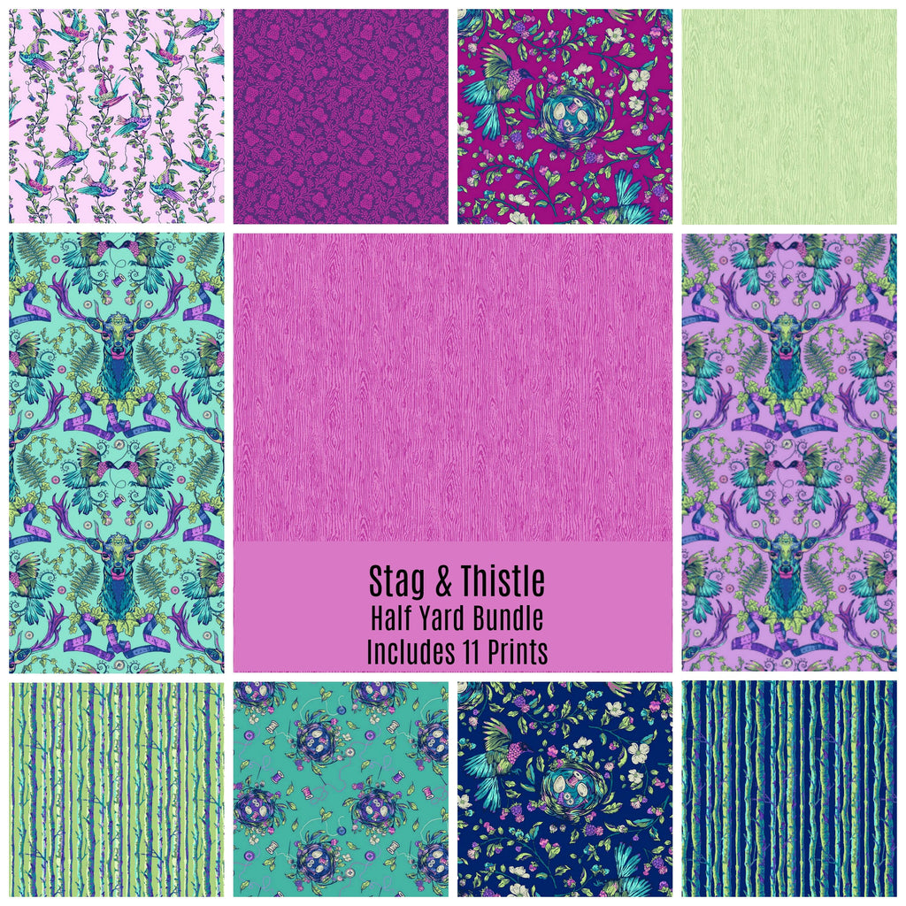Stag and Thistle Half Yard Bundle