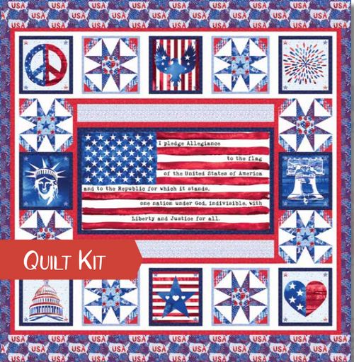 One Land One Flag Quilt Kit - Expected Jan 2021 - brewstitched.com